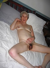 HOT unalloyed granny all round grey stimulated vagina