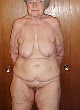 Crude granny porn